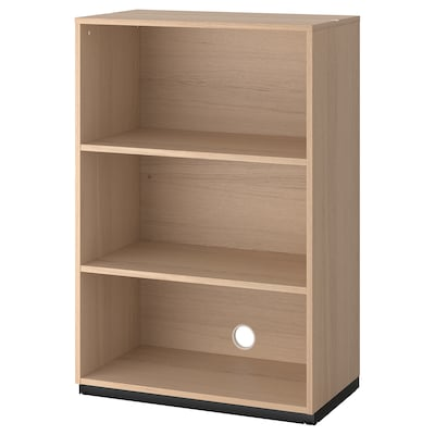 GALANT Shelf unit, white stained oak veneer, 80x120 cm