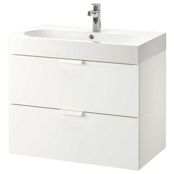 Godmorgon Braviken Wash Stand With 2 Drawers White Brogrund Tap Ikea