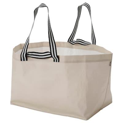 GÖRSNYGG Carrier bag, large, light beige, 57x37x39 cm/71 l