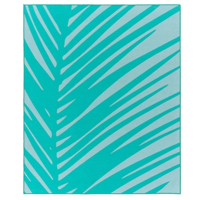 GRACIÖS Rug, turquoise, 133x160 cm