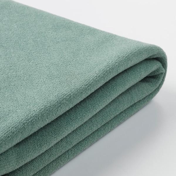 GRÖNLID Cover for footstool with storage, Ljungen light green