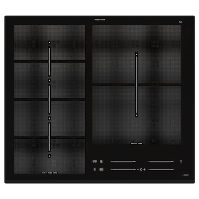 HÖGKLASSIG Induction hob, IKEA 700 black, 59 cm