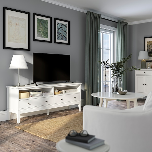 IDANÄS TV bench, white, 162x40x63 cm