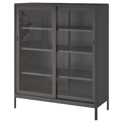 IDÅSEN Cabinet with sliding glass doors