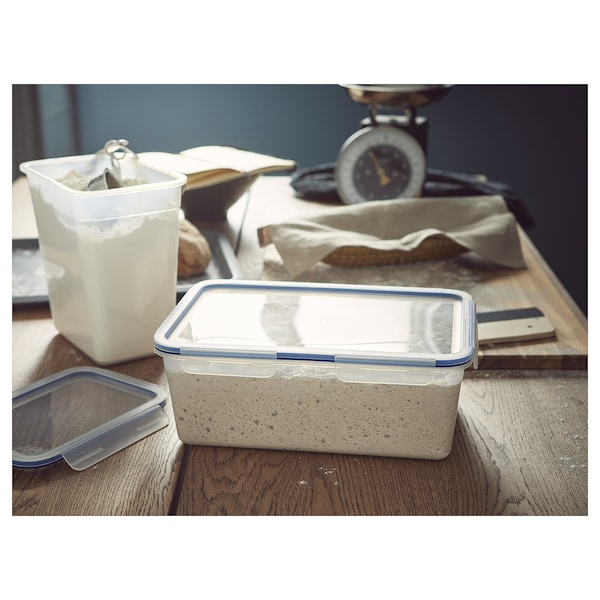 IKEA 365+ Food container with lid, rectangular/plastic, 5.2 l