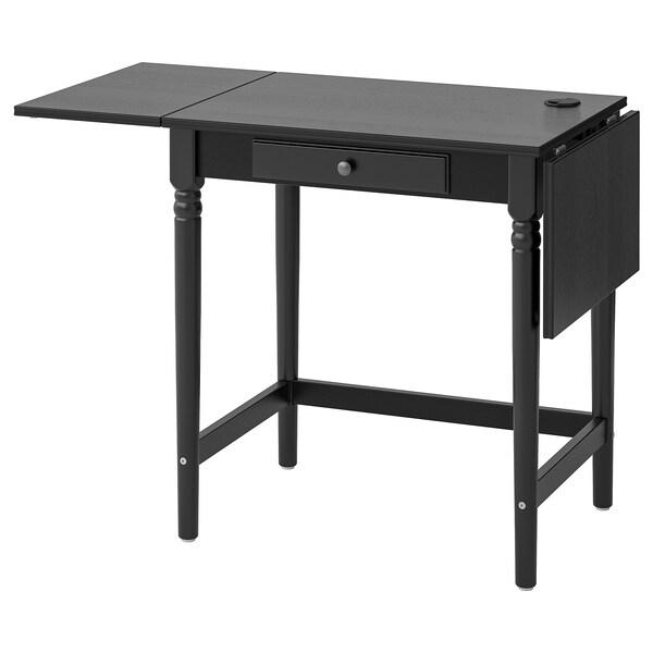 INGATORP Desk, black, 73x50 cm