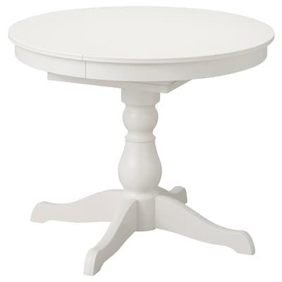 INGATORP Extendable table, white, 90/125 cm