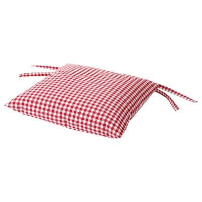 INNA Chair cushion, red/white, 40x40x7 cm