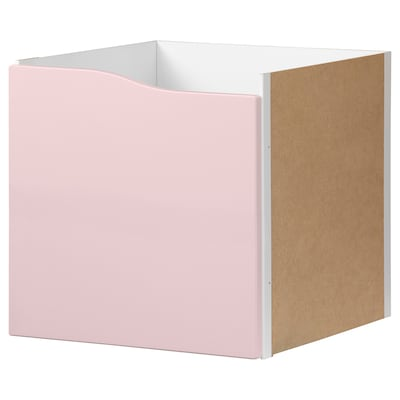 KALLAX Insert with door, pale pink, 33x33 cm