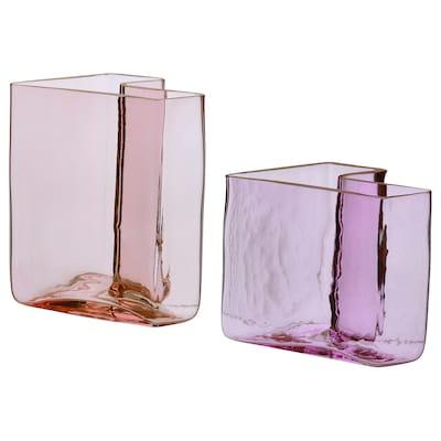 KARISMATISK Vase, set of 2, pink