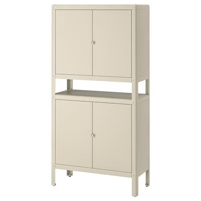 KOLBJÖRN Cabinet in/outdoor, beige, 80x161 cm
