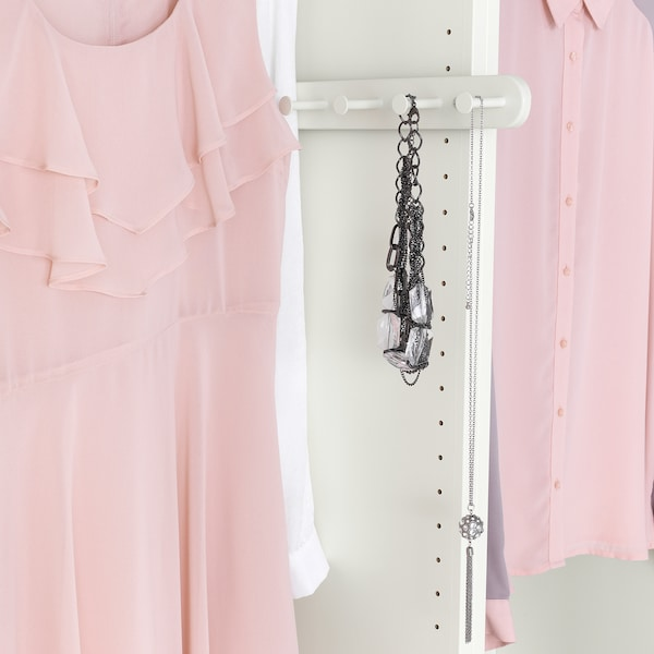 KOMPLEMENT Pull-out multi-use hanger, white, 35 cm