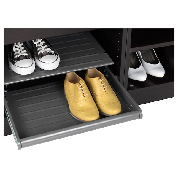 KOMPLEMENT Pull-out shoe shelf, dark grey, 50x58 cm