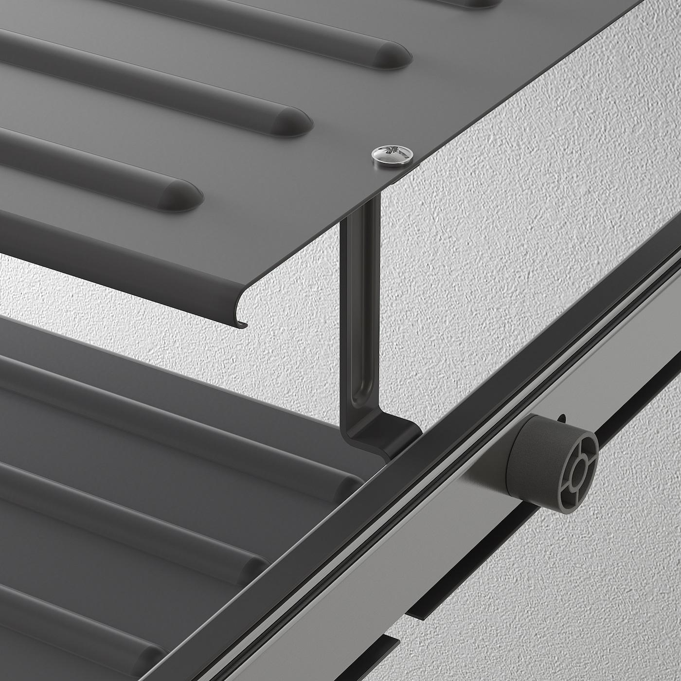 KOMPLEMENT Pull-out shoe shelf, dark grey, 100x58 cm