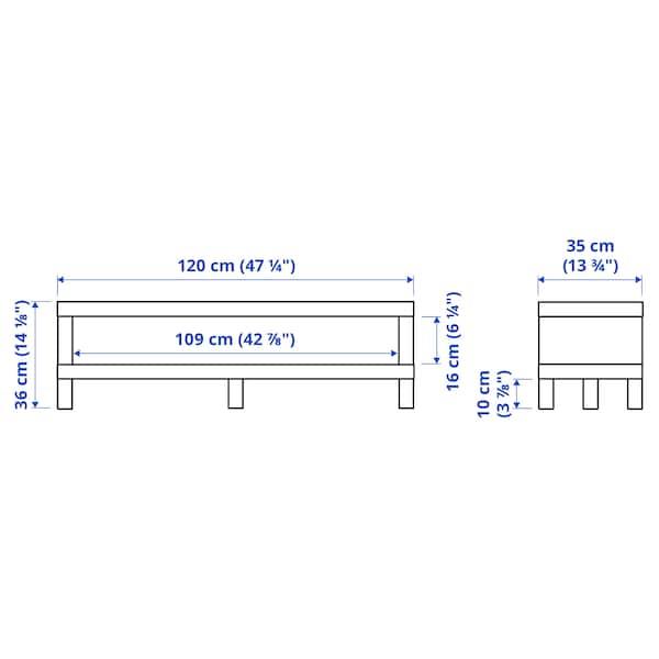 LACK TV bench, black-brown, 120x35x36 cm