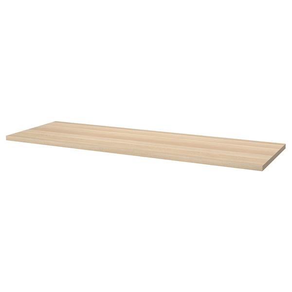 LAGKAPTEN / ALEX Desk, white stained oak/white, 200x60 cm