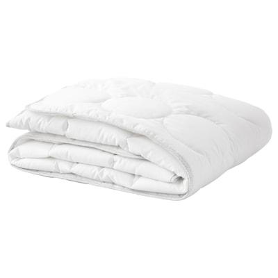 LENAST Duvet for cot, white/grey, 110x125 cm
