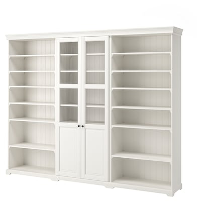 LIATORP Storage combination, white, 276x214 cm