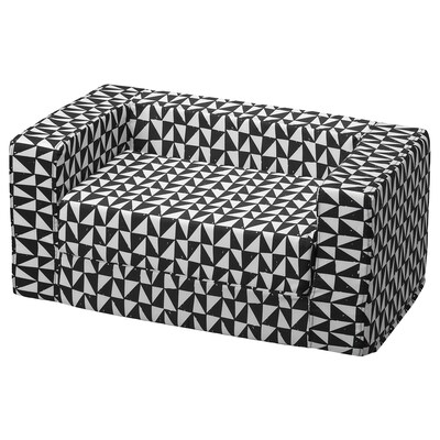 LURVIG Cat/dog bed with cover, black/white, 68x70 cm