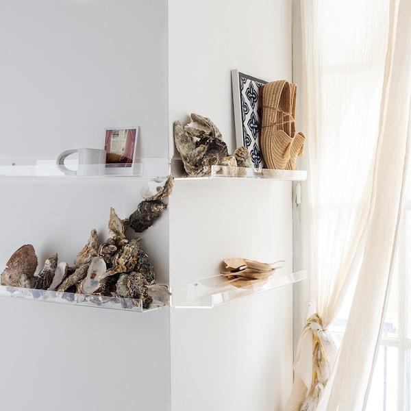 MELLÖSA Picture ledge, transparent, 60 cm