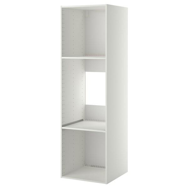 METOD High cabinet frame for fridge/oven, white, 60x60x200 cm