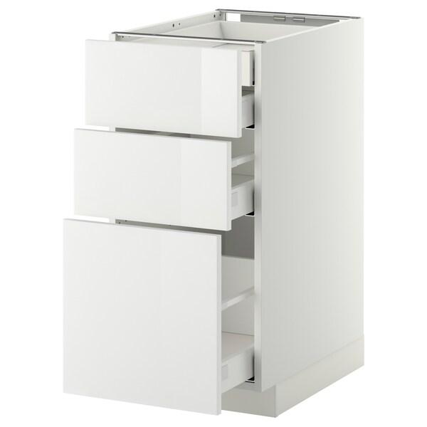 METOD / MAXIMERA Base cb 3 frnts/2 low/1 md/1 hi drw, white/Ringhult white, 40x60 cm