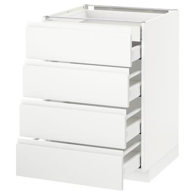 METOD / MAXIMERA Base cb 4 frnts/2 low/3 md drwrs, white/Voxtorp matt white, 60x60 cm