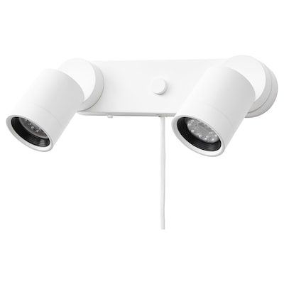 NYMÅNE Wall lamp double, white