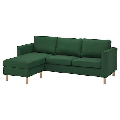 PÄRUP 3-seat sofa with chaise longue, Vissle dark green