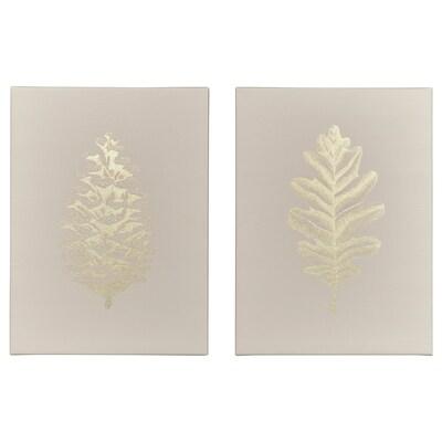 PJÄTTERYD Picture, leaf, 28x38 cm