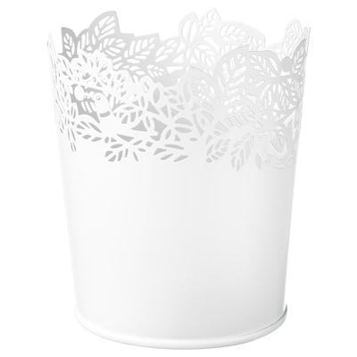 SAMVERKA Plant pot, white, 9 cm