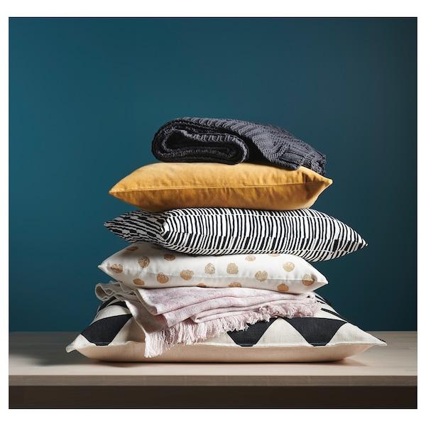 SANELA Cushion cover, golden-brown, 50x50 cm