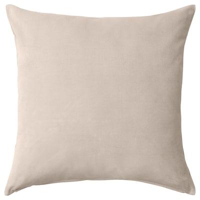 SANELA Cushion cover, light beige, 65x65 cm