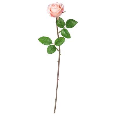 SMYCKA Artificial flower, Rose/pink, 52 cm