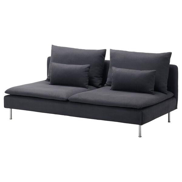 SÖDERHAMN 3-seat section, Samsta dark grey