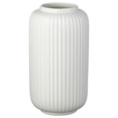 STILREN Vase, white, 22 cm