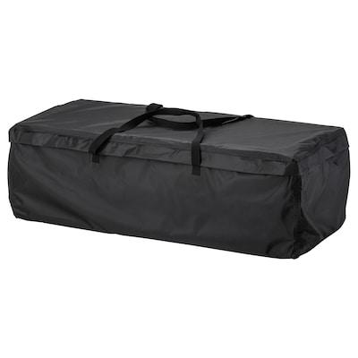 TOSTERÖ Storage bag for cushions, black, 116x49 cm