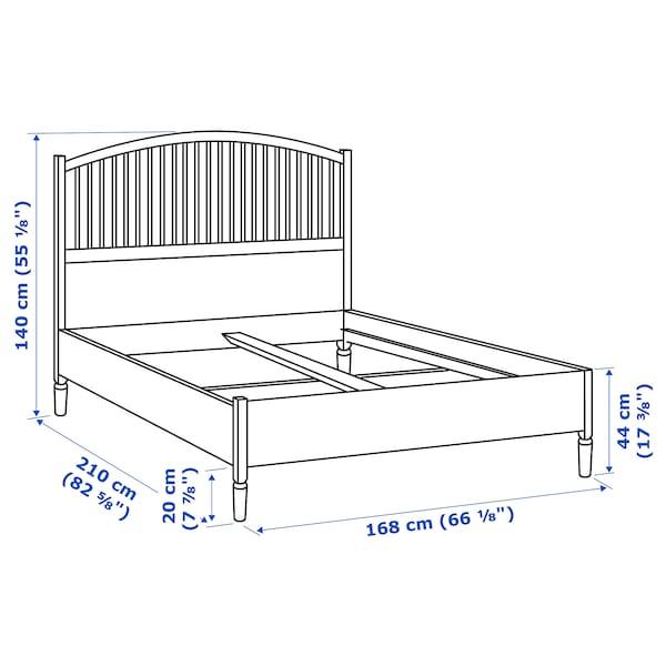 TYSSEDAL Bed frame, white/Leirsund, 160x200 cm