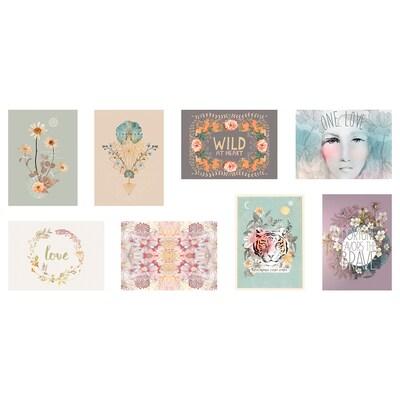 VÄXBO Art card, wild flowers, 13x18 cm
