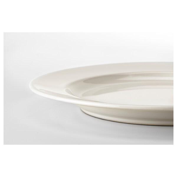 VARDAGEN Plate, off-white, 26 cm