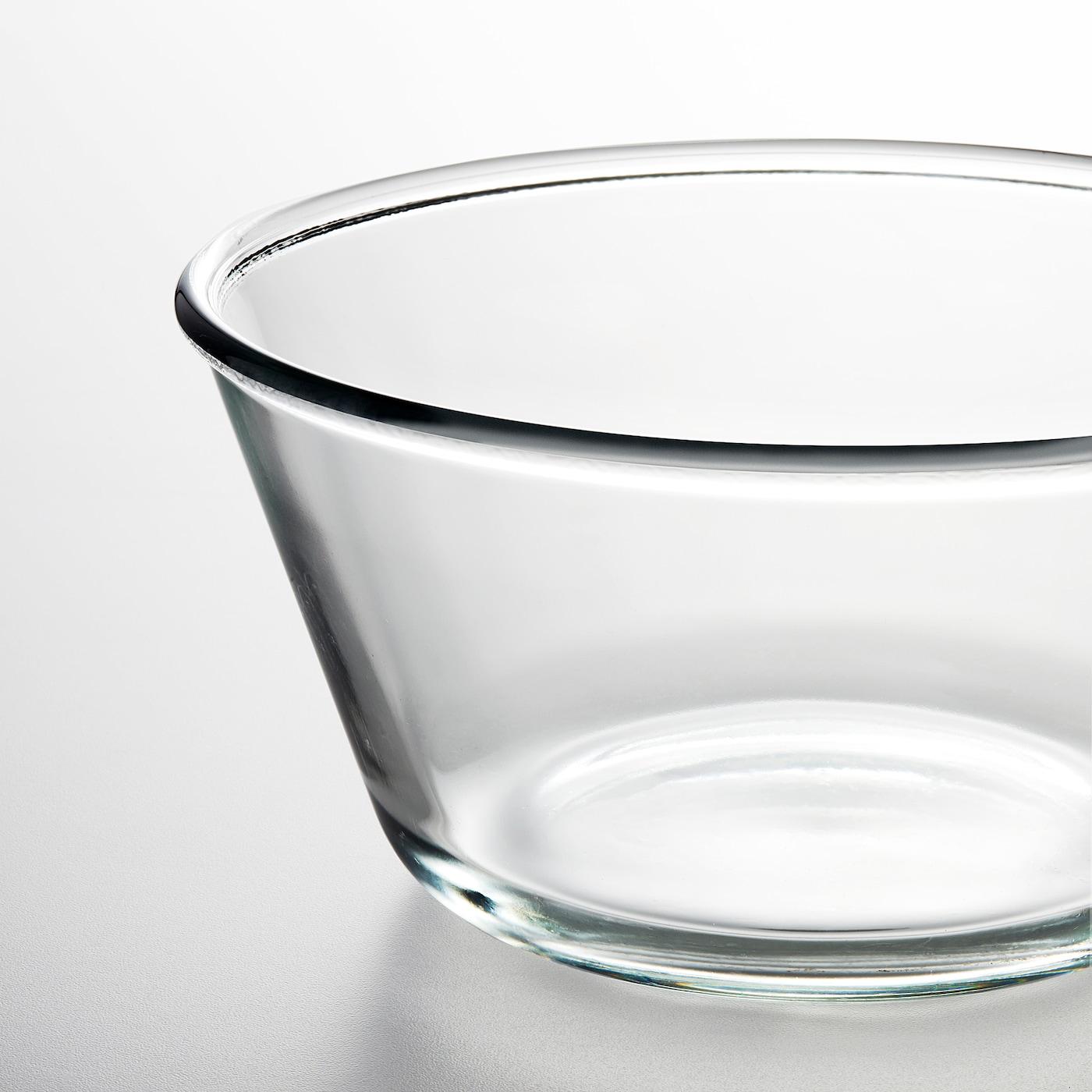 VARDAGEN Serving bowl, clear glass, 20 cm