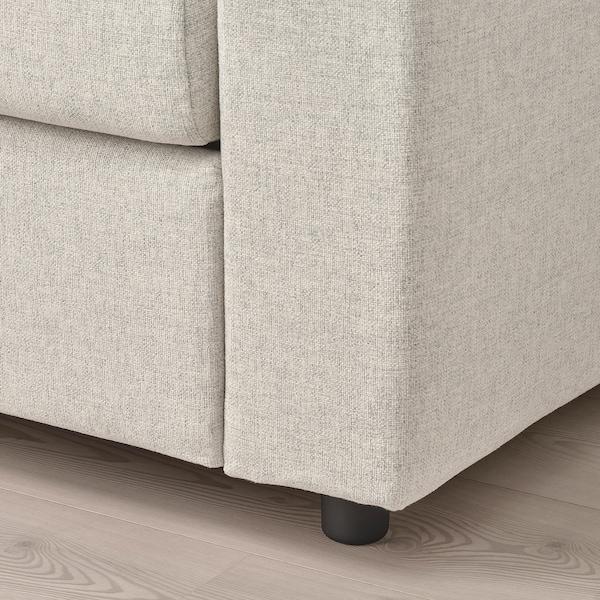 VIMLE 3-seat sofa, with wide armrests/Gunnared beige