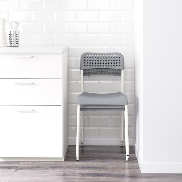 ADDE Stuhl, grau/weiß