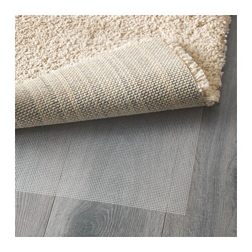 ikea adum tapis shaggy beige poils longs de couloir 150 x 80 cm neuf ebay. Black Bedroom Furniture Sets. Home Design Ideas
