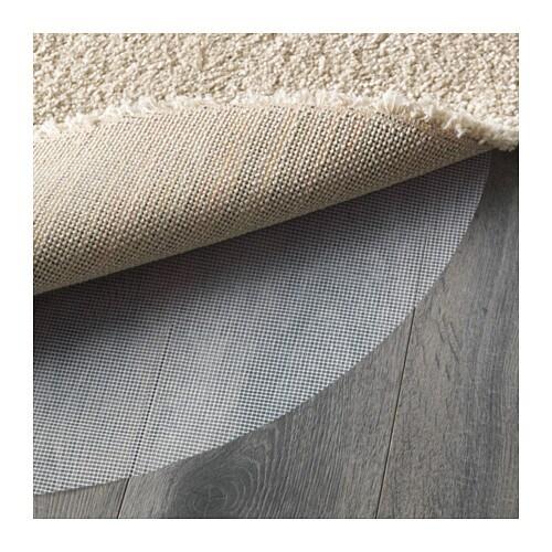 ikea adum hochflor teppich shaggy langflor beige rund. Black Bedroom Furniture Sets. Home Design Ideas
