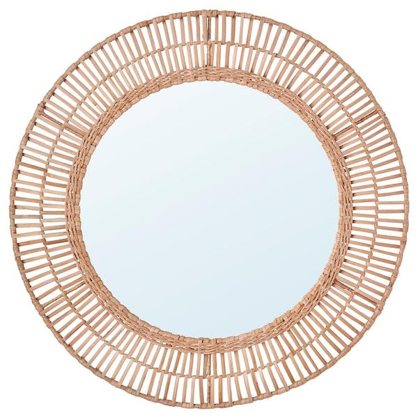 ÄNGLARP Spiegel, Rattan, 67 cm