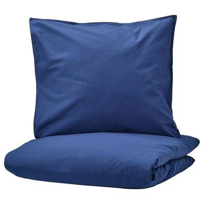ÄNGSLILJA Bettwäscheset, 2-teilig, dunkelblau, 140x200/80x80 cm