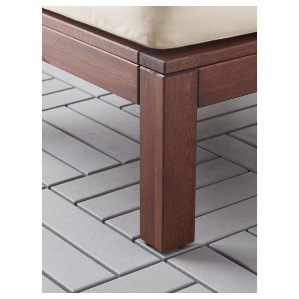 ÄPPLARÖ 2er-Sitzelement/außen, braun/Hållö beige, 143x80x73 cm