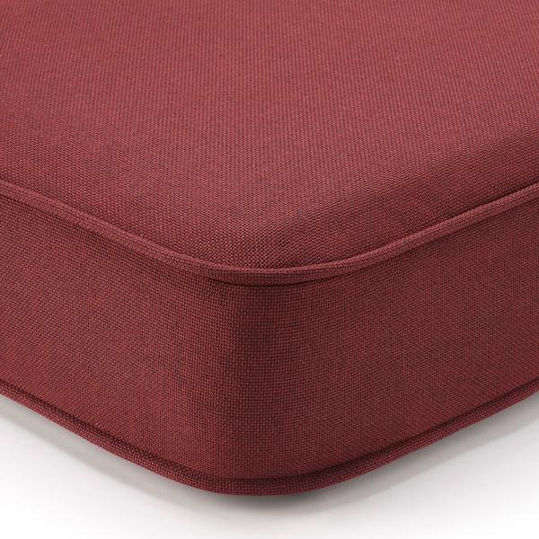 ÄPPLARÖ 3er-Sitzelement/außen, mit Hocker braun las./Järpön/Duvholmen braunrot, 143/223x80x86 cm