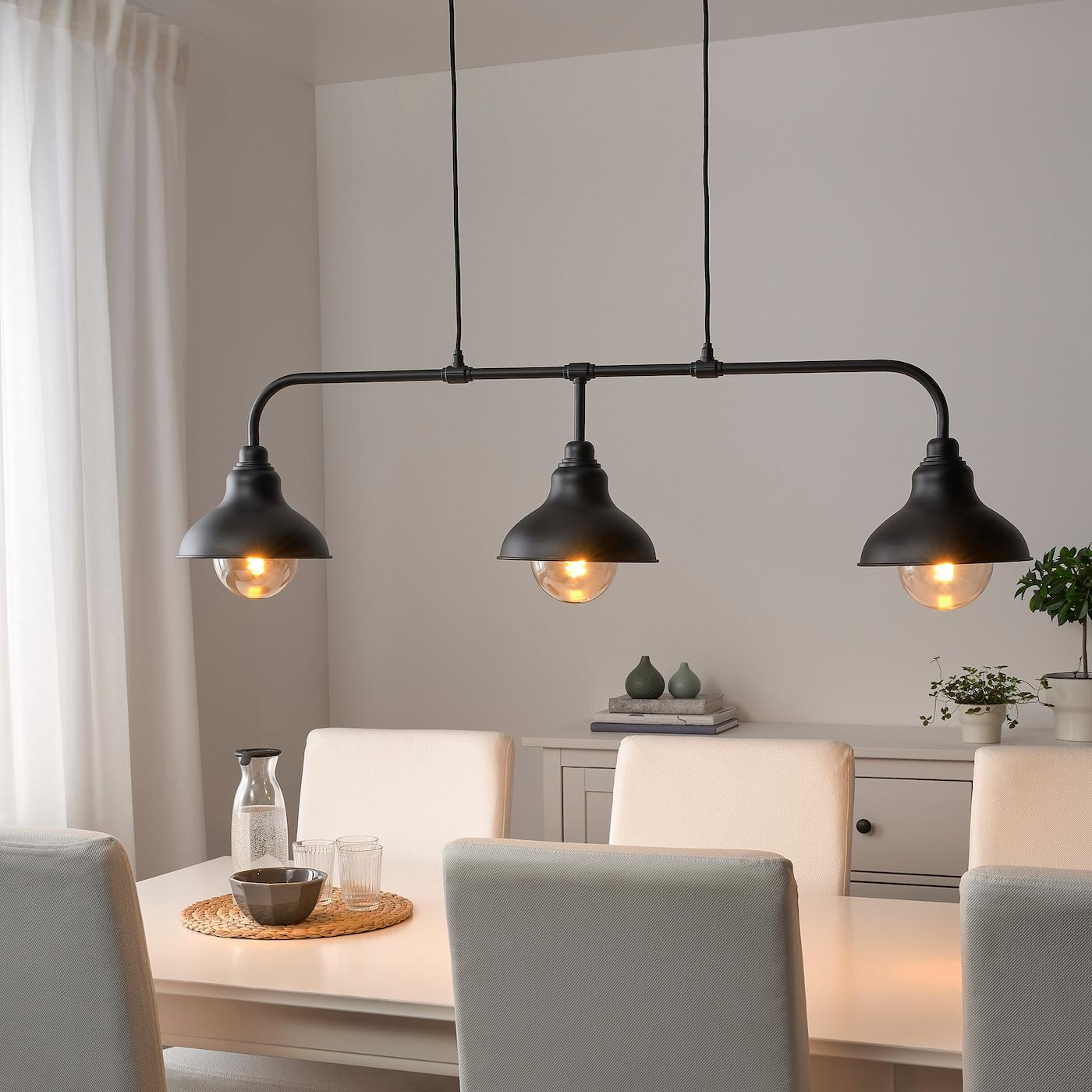 AGUNNARYD Hängeleuchte mit 9 Lampen   schwarz